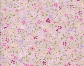 Floral Cotton Fabric, Pink  with flowers fabric