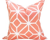 OUTDOOR - Trina Turk Trellis Print pillow cover in Watermelon