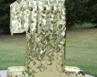 Gold Number Pinata. Custom Pinata. Large Number Pinata