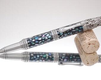Handmade Victorian Style Abalone Twist Pen