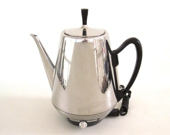 Sunbeam Coffee Percolator AP76 Electric Coffeepot Vintage Stainless Steel Coffeemaster Small Kitchen Appliances (as-is)