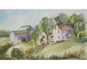 New Jersey Countryside - Original Watercolor