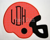 Made for Monogram Football Helmet Applique Design Machine Embroidery INSTANT DOWNLOAD