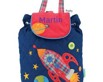 Personalized Boy Backpack Stephen Joseph Quilted Signature Space