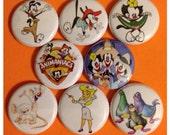 "8 Brand New 1"" ""Animaniacs"" Button Set"