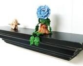 "FLOATING SHELF 12""Classic Crown Molding w/ distressed finish, Wall Shelf, Wood Shelf, Wooden Shelf, Mantel, Mantel Shelf, Shabby Chic Shelf"