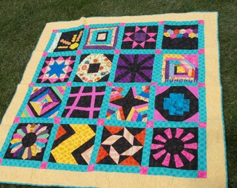 Bright sampler quilt