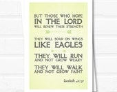 Greeting Cards - Isaiah 40:31 Bible Verse notecards - Set of 10 folded blank notecards