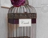 Birdcage Wedding Card Holder / Rustic Birdcage / Wedding Cardholder / Birdcage / Wedding Decoration / Wedding Card Holder / Decorative Cage