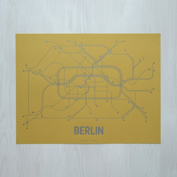 Berlin Screen Print - Ochre/Gunmetal