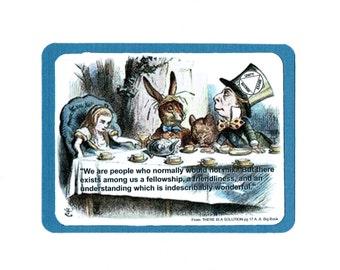 Alice in Wonderland 12 Step greeting card