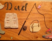 Mans Gift Fisherman/ Dad Vintage Wooden Cigar Box