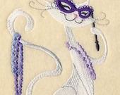 Carnival Halloween Kitty Embroidered Flour Sack Hand/Dish Towel