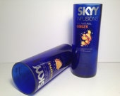 Skyy Infusions Ginger & Pineapple Vodka Cobalt Blue Recycled Bottle Tall Glasses - Set of 2