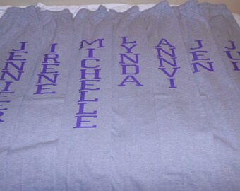Customized Bridal Party/Sports Team Sweatpants