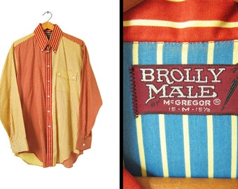 Vintage 60s Fun Shirt McGregor Brolly Male NOS Go To Hell Button Up - Medium