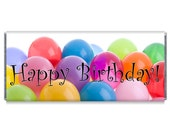 Happy Birthday Balloons Candy Bar Wrapper Favors