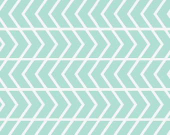 Chevron Crib Bumpers - Mint Chevron Crib Bumpers - Crib Bedding