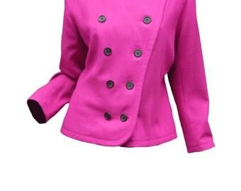 Vintage YSL Yves Saint Laurent Rive Gauche Vintage Fuchsia Jacket