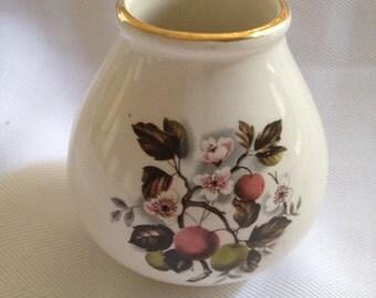Vintage Crown Devon Vase - White Flowers