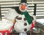 Primitive Frosty Clothes Pin Snowman Doll Christmas Winter Shweet Potato Dolls N Patterns