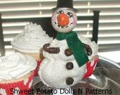 Primitive Frosty Clothes Pin Snowman Doll Christmas Winter Shweet Potato Dolls N Patterns