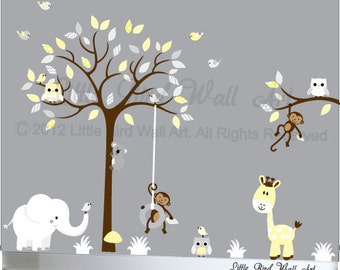 Childrens nursery tree, Children Wall decal, Nursery Tree Vinyl Decal, Wall decals nursery, Nursery wall decal, Nursery decals, nursery