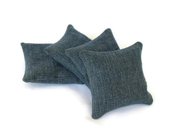 Upcycled Blue Denim Bean Bags Child's Toy Home School Classic Soft Toss (set of 4) - US Shipping Included