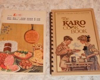 2 Karo Cook Books The Karo Cook Book and The New Karo All American Cook Book