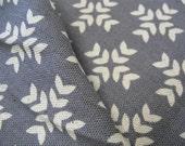 SALE - Garden - Cross Print Grey - Light Weight Canvas by Ellen Luckett Baker from Kokka Fabrics