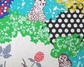 Echino Decoro - Hide Blue and Natural - Lightweight Canvas from Kokka Fabrics