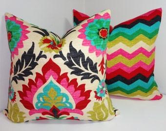 Pillow Cover Set Waverly Santa Maria Desert Flower & Panama Wave Pillow Covers Decorative Pillow All Sizes
