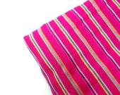 Hot Pink Mexico Fabric - Aztec striped pattern - Southwestern - Cambaya - One Yard