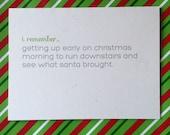 Funny Christmas Card // Santa Spoiler // We're Sleeping In