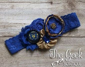 World Of Warcraft Alliance Garter or Headband, Wedding Accessories, Headband, Garter, Photo Prop