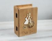Ring Bearer Pillow / Box, Wedding Box, Brown Ring Bearer Box Pillow Alternative We Do Personalized Ring Bearer box Ring Holder