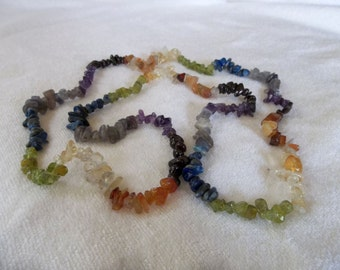 Chakra Infinity Necklace - Gemstone Jewelry