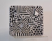 Geometric Black and white Art tin