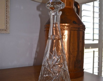 Crystal Etched Glass Wine Decanter Wine Holder Spirits Decanter