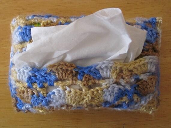 Stylish Crochet Travel Size Tissue Holder Case Cover Cozy