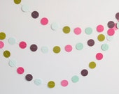 SAMPLE Pink Purple Blue Circle Garland, Circle Garland, Party Garland, Room Decor, Party Decor