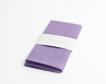 Lavender pocket square, provence wedding accessory