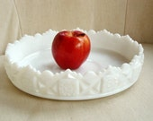 Westmoreland Old Quilt Serving Bowl, Westmoreland Milk Glass,