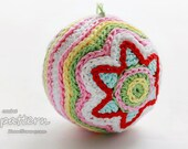 Crochet Pattern - Colorful Christmas Star Ball (Pattern No. 011) - INSTANT DIGITAL DOWNLOAD