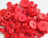 Red Buttons - Bag of Buttons