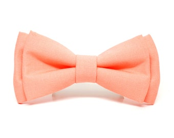 Soft Coral Bow Tie for Boys, Toddlers, Baby - pre tied bowtie