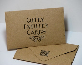 Customizable 2x3.5 Kraft Gift Card Envelopes