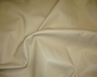"""Ivory Soft Skin Upholstery Faux Leather vinyl fabric by the yard 55"""" Wide"""
