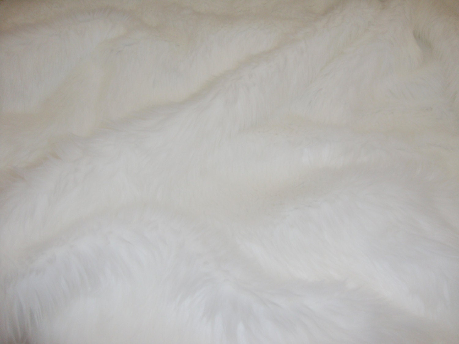 Fur Faux Fake White Shaggy Faux Fur Fabric By The Yard