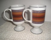 Holt Howard Pedestal Coffee Cups x2